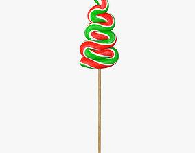 Christmas tree lollipop 3D model