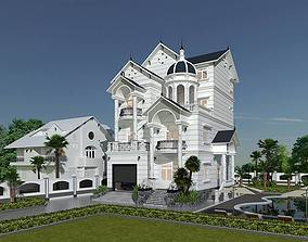3D Design a classic style house