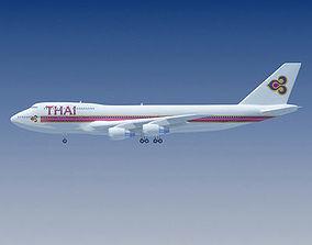 3D model Thai Airways Boeing Thailand