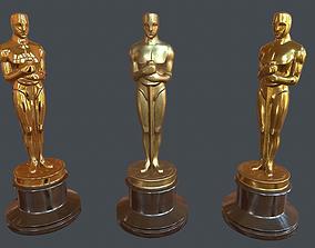 3D model Oscar statuette PBR Game Ready