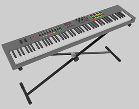 3D model MIDI Keyboard Controller - 88 Key Digital Piano