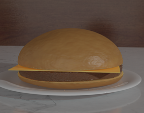 3D model Low-Poly Realistic Burger