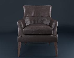 Potterybarn Carson Leather Armchair 3D