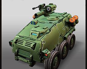 Cartoon APC 6x6 3D model low-poly