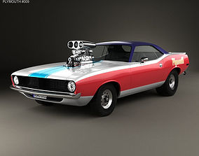 3D model Plymouth Barracuda Dragster 1974