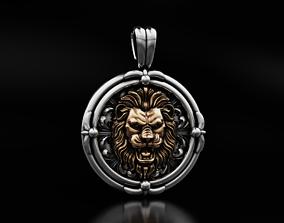 3D print model An ancient lions pendant with patterns 643