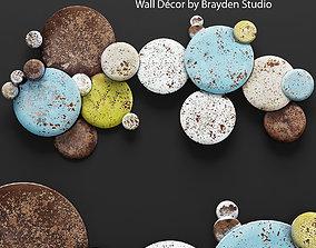 Mclean Earth Tone Circles Wall Decor 3D