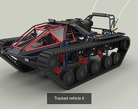 Powerful tracked vehicles 3D