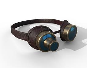Steampunk Goggles 3D model VR / AR ready