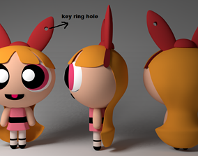 blossom keychain model for 3d print