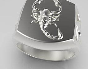 3D printable model Zodiac ring Scorpio