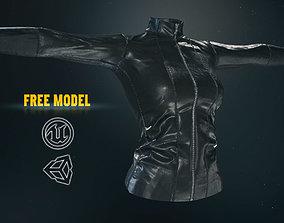 Female Leather Jacket-Free Model 3D asset