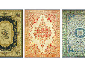 3D asset Persian carpet first series