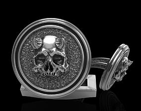 skull cufflinks anatomical 3D print model