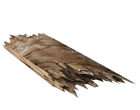 Wooden Plank Stick 3D Model VR / AR ready