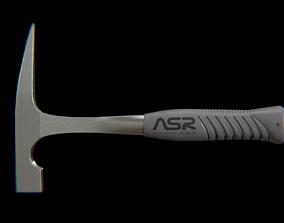 3D asset ASR rock pick Hammer grey