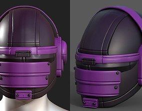 Helmet scifi military combat 3d model low-poly 1