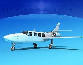 3D Piper Aerostar FJ-100 Fanjet V11