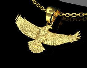 3D printable model Eagle Spread Pendant jewelry Gold