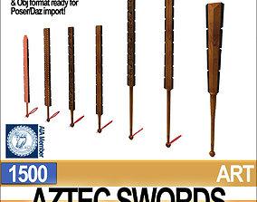 3D model Aztec Swords Collection