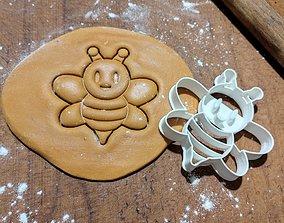gingerbread Bee Cookie Cutter 3D Print Model