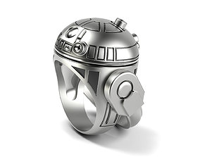 R2 D2 DROID Ring 3D print model