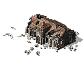3D model Future World - Ruins 01