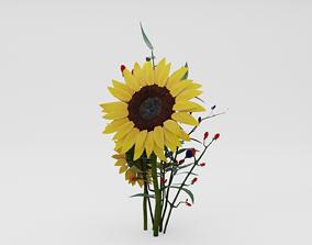 Sunflower Bouquet 3D model VR / AR ready