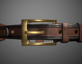 3D model Leather belt with removable bags