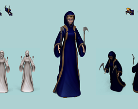 3D model Character - Female Brotherhood Outfit Tibia - 2