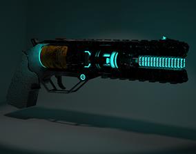 Plasma Pistol 3D asset animated