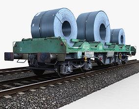 3D asset Steel Coil Wagon