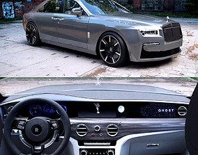 Rolls royce ghost car back 3D model