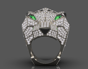 3D printable model Panther cartier ring