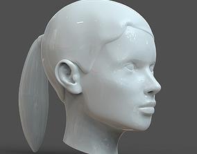 CAD-friendly young woman Head Model F3P1D0V1head 3D model