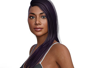 Nicole Scherzinger full rigged 3D model body rigged