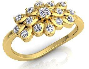 Diamond Ring 3D printable model white