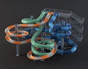 water Park slides 5 3D model
