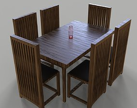 game-ready Dining table 3D model