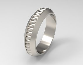 David Yurman Cable Inset Band Ring in 3D printable model 2