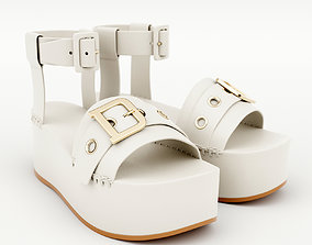 3D model Wedge Sandal