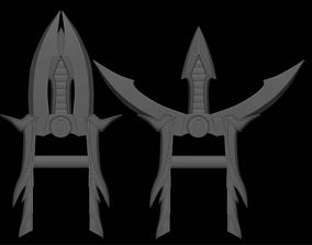 3D printable model Rain weapon Katar daggers like as 3
