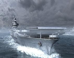 3D model WWII midway aircraft carrier fleet USA Navy 1