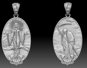 life and death Pendant 3d model