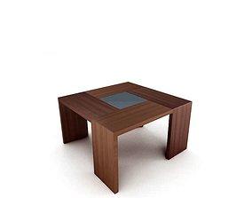 3D model Wooden Modern Table