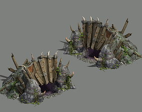 stairs Monster base - hole 3D