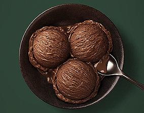 Chocolate Ice Cream 3D