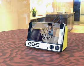 Absurdistcap RetroTV Phone Stand 3D print model