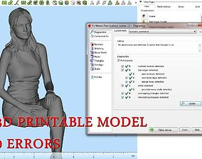 3D printable model Business Woman Sitting