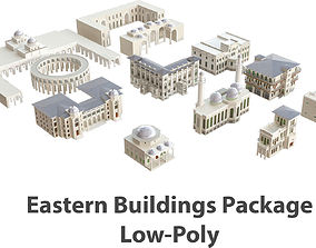 3D model VR / AR ready Middle Eastern Building Package